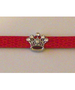 Handcrafted red band bracelet with rhinestone c... - $9.99