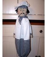 Raggedy~Chef Pierre Folk Art Doll Pattern  Bz - $11.95