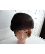 Vintage Genuine Mahoghany Brown  Mink Women Hat... - $65.61