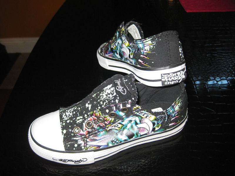 Buy ed hardy shoes for kids - Ed Hardy Youth Kid Children Black Multy Color Shoes