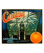 Large 1930s Carcasa Fruit Label - $35.00