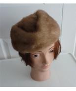Vintage Blond Mink Fur Women Hat Extra Small 21... - $52.46