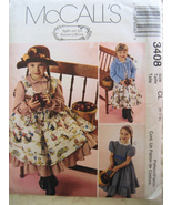 McCalls 3408 New Unused Girls 6 to 8 Dress Pina... - $5.95