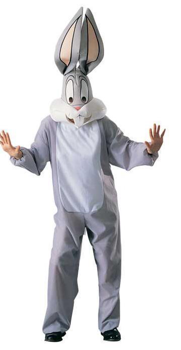 ADULT BUGS BUNNY COSTUME WITH OVERSIZED HEAD