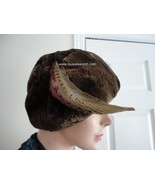 Vintage Sheared Brown Beaver Women Hat 60's Ext... - $65.61