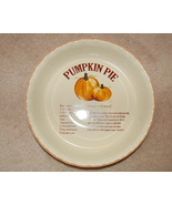 Dennis East International Pumpkin Pie Dish with Recipe
