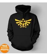 Legend of Zelda Triforce yellow logo Hoodie pc ... - $29.95