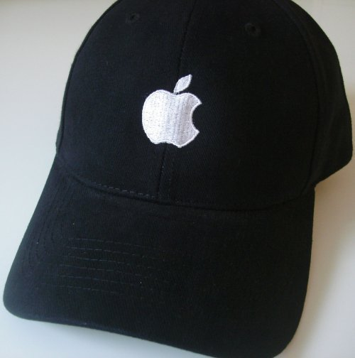 Apple embroidered logo adjustable Hat mac Fan geek cap
