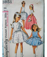 Simplicity 5951 Vintage 60s Pattern Flower Girl... - $16.95