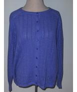 Dressbarn Woman Metallic Purple Sweater 14 16 - $10.00