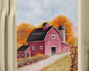 Image 1 of Country Barn/farm Fridge Refrigerator Magnet SxS