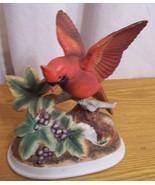 Vintage Red Cardinal Figurine Andrea by Sadek 7... - $19.99