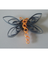 Handcrafted Paper Quill Dragonfly Magnet blue a... - $5.95