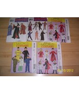 5 Costume Pattern Girls Boys Angel Cat Clown Wi... - $12.37