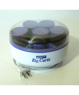 CONAIR Big Curls 5 Jumbo Velvet Rollers Travel ... - $18.50