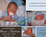Buy Announcements - Custom Photo Baby Birth Announcements ~ Boy or Girl