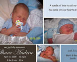 Buy Announcements - Modern Custom Photo Baby Birth Announcements Boy / Girl