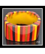 Multicolor Lucite Bangle Fall Colors - $12.00