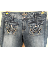 Blue Cult JEANS denim EMBROIDERY distressed BOO... - $25.31