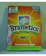 Brainetics Math & Memory Full 3 DVD Set Play Book Cards Part 2 New Amazing