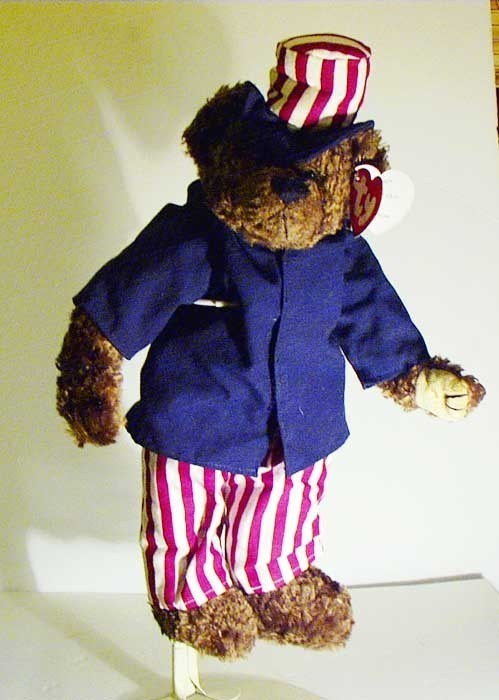 TY SAMUEL I WANT YOU BEANIE BUDDIES BAG BEAR DOLL with TAG UNCLE SAM 4TH JULY