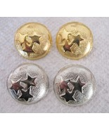 2 Sets of Fashion Earrings Gold & Silver Tone S... - $9.79