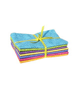 Bright Neon FQs, quilting cotton fabric fat qua... - $9.99