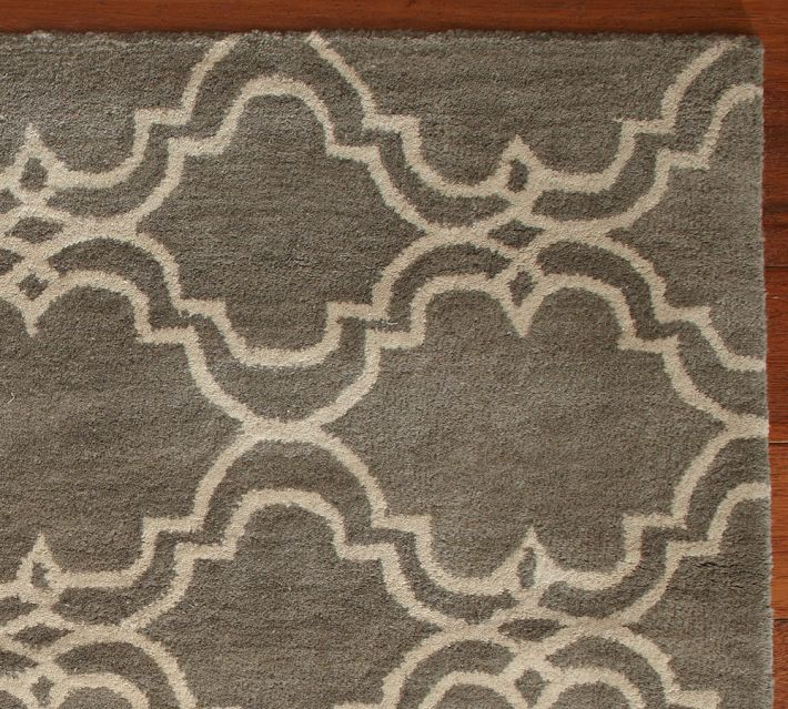 Sale Brand New Pottery Barn SCROLL TILE GRAY AREA RUG 9x12