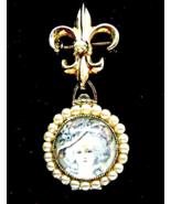 Coro 4 Picture Locket Brooch Pearl Marie Antoin... - $46.00