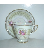 Victorian Luster Wear Cup and Saucer Gold Finish - $9.00