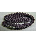 Vintage Handbeaded Lavender Seed Bead Choker 14in  - $8.50