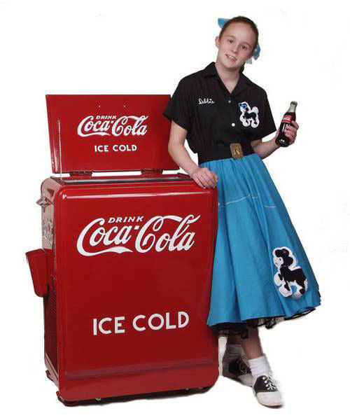 New 1930's style Coca Cola  REFRIGERATOR Coke machine