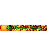 Customized Booth Website Banners - Autumn Thank... - $1.50