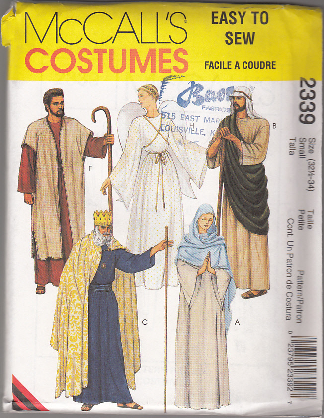 Biblical Costumes for Nativity Scenes and Passion Plays