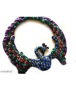 Jeweled Peacock Frame Desk Style - $7.95