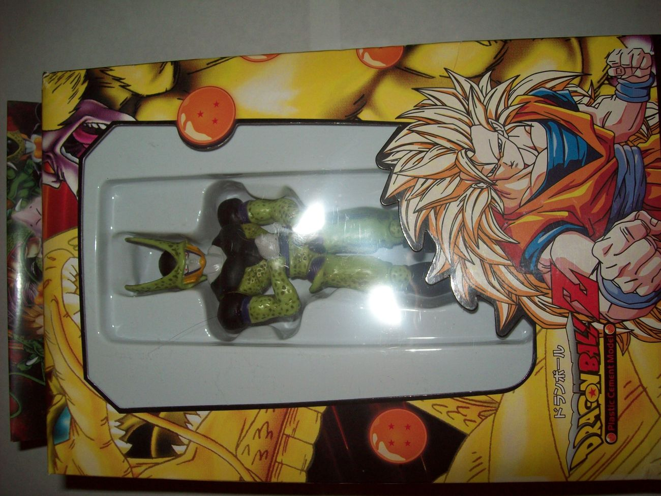 "cell perfect 5"" dragonball z plastic cement model figure in box"
