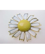Vintage WEISS Yellow Enamel Daisy FLOWER BROOCH... - $35.00