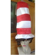Cat in the Hat Dr. Seuss  top hat red white tal... - $8.00