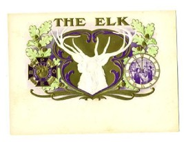 The ELK Cigar Box Label B P O E Elks Club Symbo... - $49.50