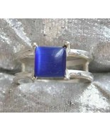 Art Moderne 90s Stunning Blue Glass Moonstone S... - $10.50