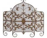 Buy Scroll Metal Fireplace Screen With Wire Mesh Screen