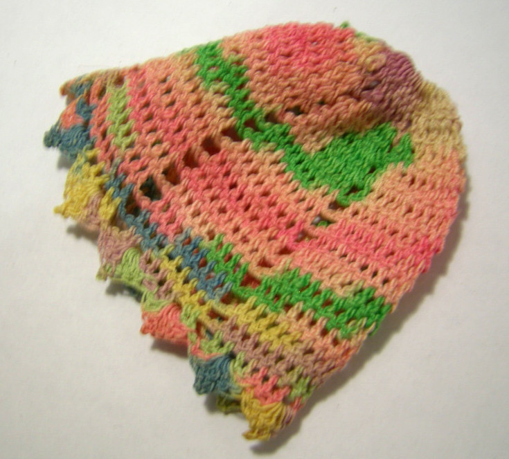 Vintage Crochet Multi Color Baby Cap