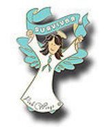 Ovarian Cancer Teal Ribbon Angel Survivor Brwn ... - $10.97