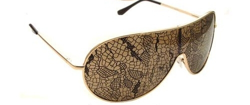 Green Camo Lace Lens Aviator Sunglasses Lady Gaga Rihanna Burlesques Style