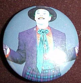 DC Comics 1989 Batman Joker Purple Suit Pin Pinback