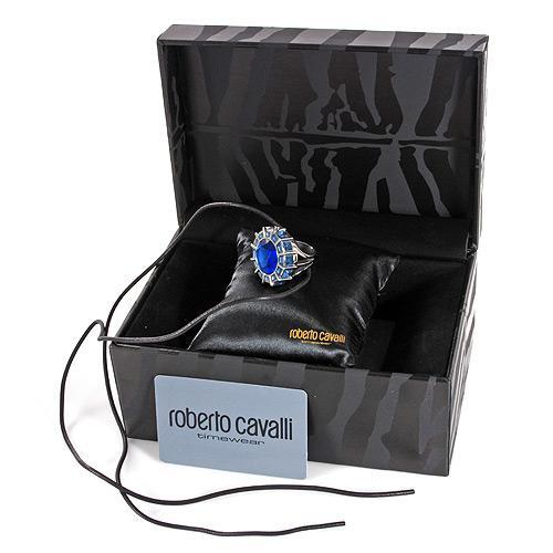 New Roberto Cavalli Ladies Ring Watch With Genuine Crystals