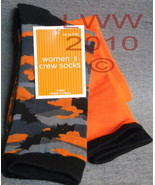 Women's Halloween Camoflauge Crew Socks One Size - $5.99