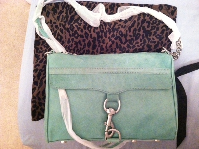 BNWT REBECCA MINKOFF TIFFANY BLUE MAC CLUTCH