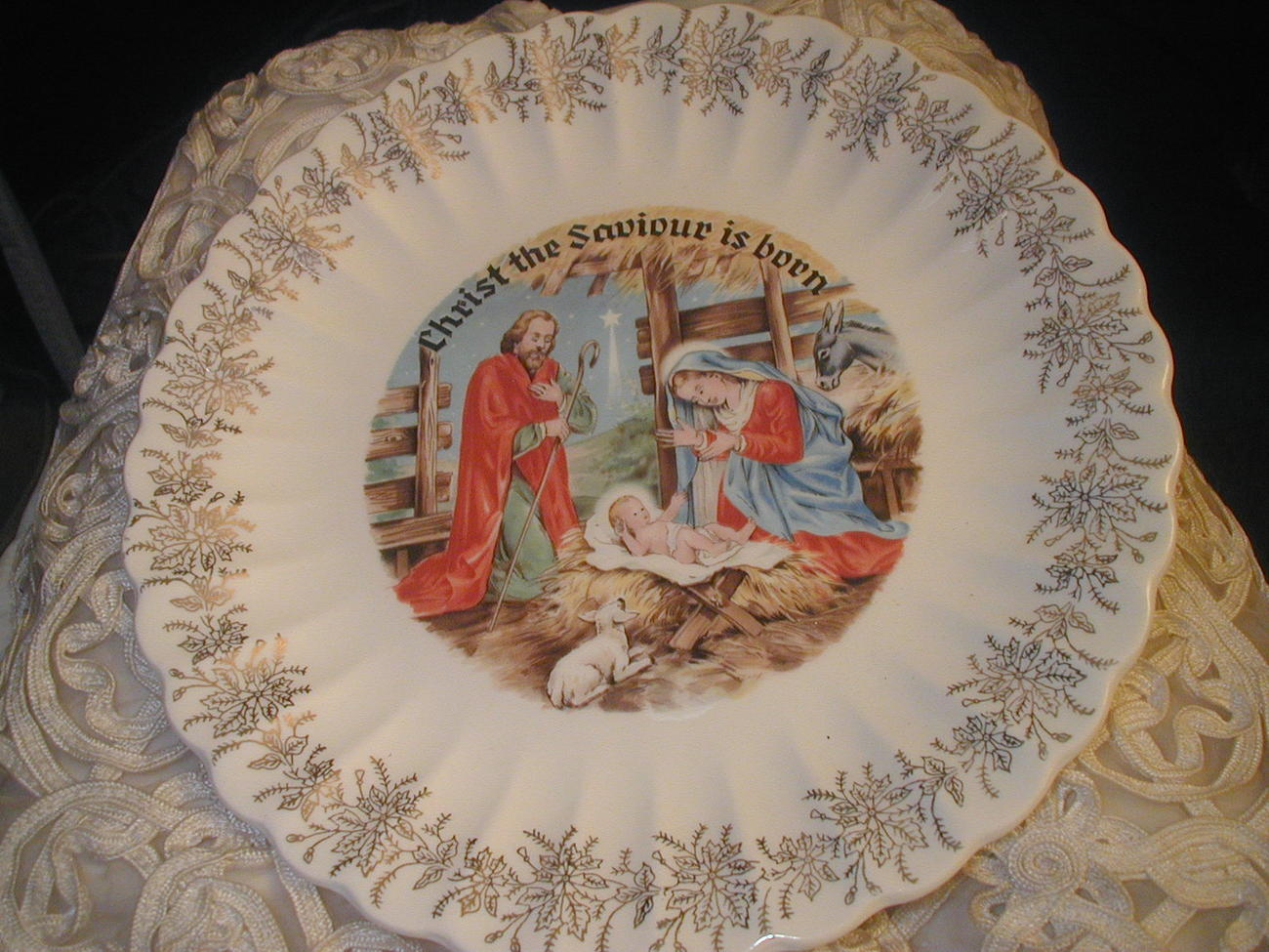 Christ The Saviour Is Born Sanders Co 1956 Dinner Plate