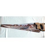 Hand Painted Handsaw Winter Old Farm For Sale O... - $45.00
